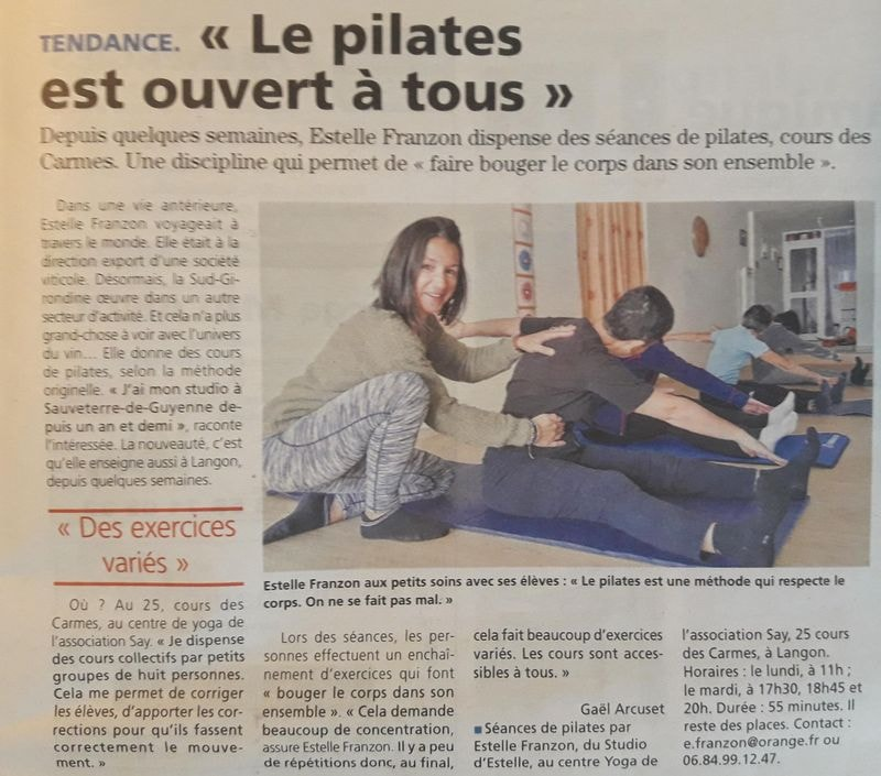 studio-pilates-langon-article-journal