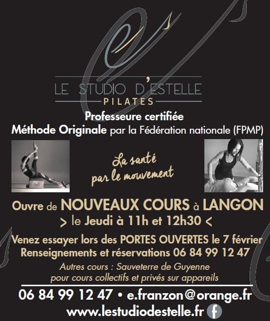 Studio Pilates Langon Gironde article portes ouvertes